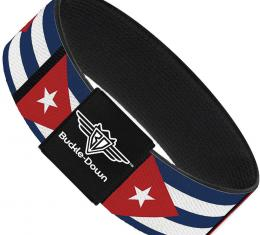 Buckle-Down Elastic Bracelet - Cuba Flags