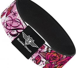 Buckle-Down Elastic Bracelet - Born to Blossom Pink