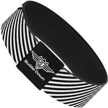 Buckle-Down Elastic Bracelet - Eighties 7 Black/White