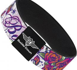 Buckle-Down Elastic Bracelet - Born to Blossom Blue