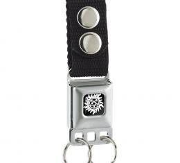 Keychain - Winchester Pentagram Black/White