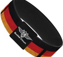 Buckle-Down Elastic Bracelet - German Flag Distressed