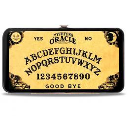 Hinged Wallet - MYSTIFYING ORACLE/Ouija Board Elements Natural/Black