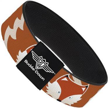Buckle-Down Elastic Bracelet - Fox Face/Tail Orange/Natural