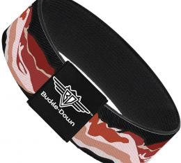 Buckle-Down Elastic Bracelet - Bacon