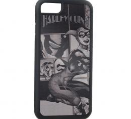 Rubber Cell Phone Case - BLACK - HARLEY QUINN/Night and Day Cover Brushed Silver