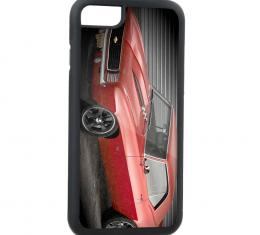Rubber Cell Phone Case - BLACK - 1969 Red Camaro Front/Driver Side FCG Grays