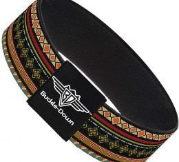 Buckle-Down Elastic Bracelet - Aztec5 Reds/Blues/Greens/Yellows