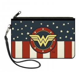 Canvas Zipper Wallet - LARGE - WONDER WOMAN/Logo Americana Red/White/Blue/Yellow