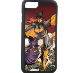 Rubber Cell Phone Case - BLACK - The New 52 BATGIRL Issue #34 Moto Selfie/Comics Scattered Variant Cover Pose FCG