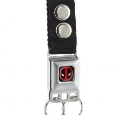 MARVEL DEADPOOL Keychain - Deadpool Logo Full Color Black/Red/White