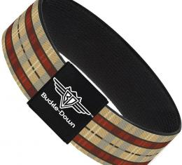 Buckle-Down Elastic Bracelet - Americana Plaid