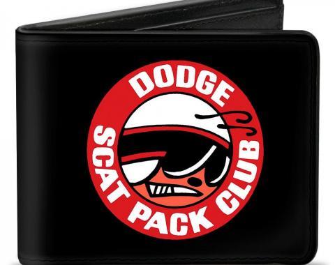 Bi-Fold Wallet - DODGE SCAT PACK CLUB Bumblebee Logo Black/Red/White