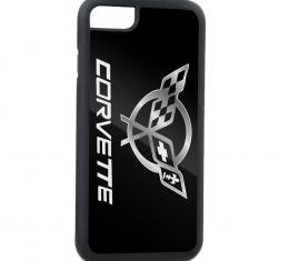 Rubber Cell Phone Case - BLACK - Corvette FCG Black/Silver