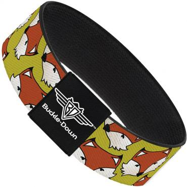 Buckle-Down Elastic Bracelet - Fox Face Scattered Warm Olive2