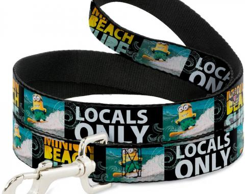 Dog Leash - Surfing Minion MINION SURF BEACH/LOCALS ONLY