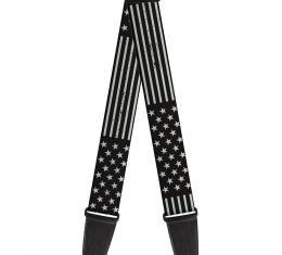 Guitar Strap - Americana Stars & Stripes Weathered Black/Gray
