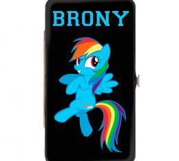 Hinged Wallet - BRONY/Rainbow Dash + Cutie Mark Black