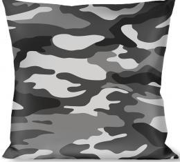 Buckle-Down Throw Pillow - Camo White