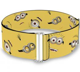 Cinch Waist Belt - Minion Expressions Scattered Yellow - ONE SIZE