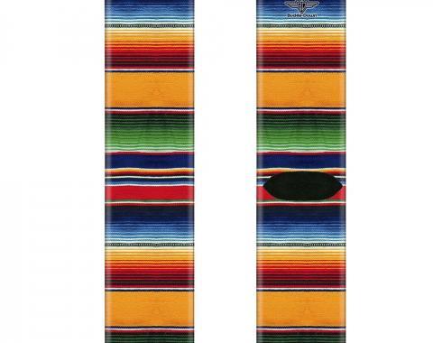 Sock Pair - Polyester - Zarape2 Vertical Multi Color Stripe - CREW
