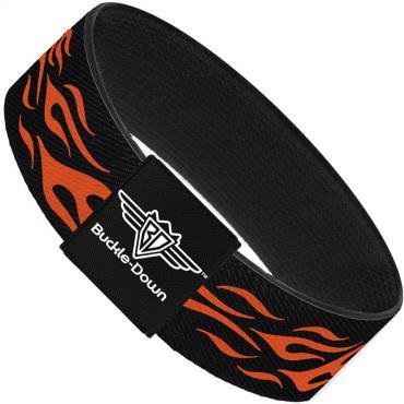 Buckle-Down Elastic Bracelet - Flame Orange