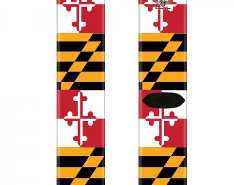 Sock Pair - Polyester - Maryland Flags - CREW