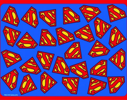 Placemat - Superman Logo Scattered Blue/Red