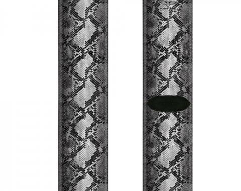 Sock Pair - Polyester - Snake Skin 3 Grays - CREW