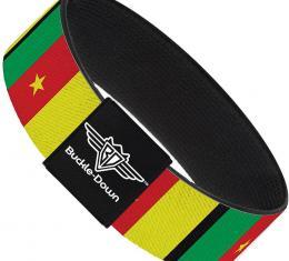 Buckle-Down Elastic Bracelet - Cameroon Flags