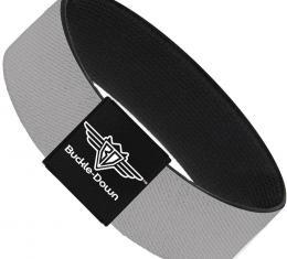 Buckle-Down Elastic Bracelet - Silver