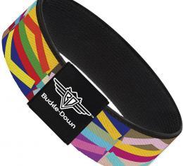 Buckle-Down Elastic Bracelet - Geometric10 Multi Color