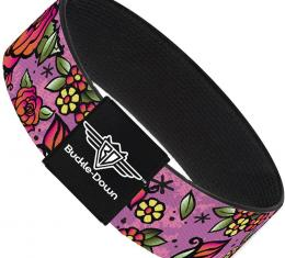Buckle-Down Elastic Bracelet - Born to Blossom C/U Pink