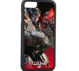 Rubber Cell Phone Case - BLACK - HALO WARS 2 Atriox Pose FCG Black/Reds