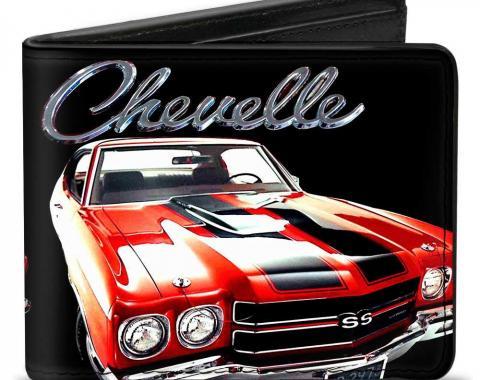 Bi-Fold Wallet - 1970 Chevrolet CHEVELLE Black/Silver/Red