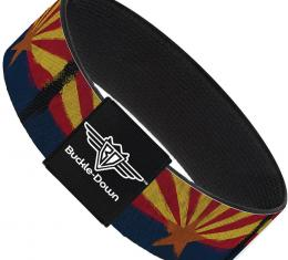 Buckle-Down Elastic Bracelet - Arizona Flag Distressed Painting