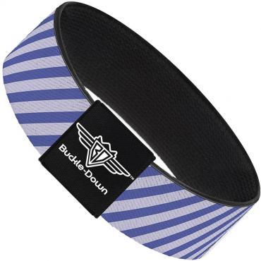 Buckle-Down Elastic Bracelet - Diagonal Stripes Pastel Blues
