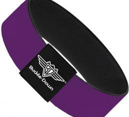 Buckle-Down Elastic Bracelet - Purple