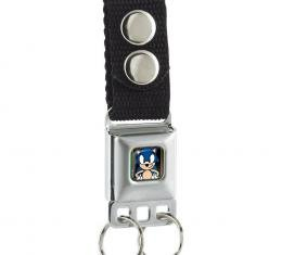 SONIC CLASSIC  Keychain - Sonic Standing Pose3/Play Background Full Color