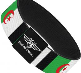 Buckle-Down Elastic Bracelet - Algeria Flags