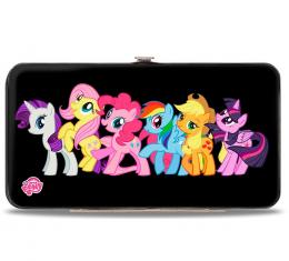 Hinged Wallet - Six Ponies Group Pose Black