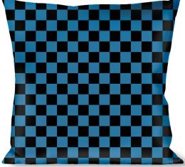 Buckle-Down Throw Pillow - Checker Black/Turquoise