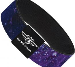 Buckle-Down Elastic Bracelet - Galaxy Blues/Purples