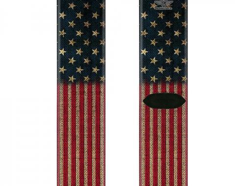 Sock Pair - Polyester - Vintage US Flag Stretch - CREW