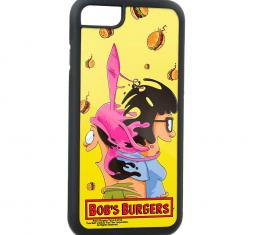 Rubber Cell Phone Case - BLACK - BOB's BURGERS Issue #1 Variant Cover Pose Louise & Tina Mash Up FCG