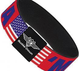 Buckle-Down Elastic Bracelet - MERICA/US Flag Red/Blue/White
