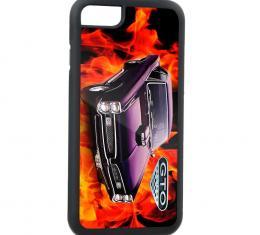 Rubber Cell Phone Case - BLACK - Pontiac GTO/5.7 LITRE Emblem Flames FCG