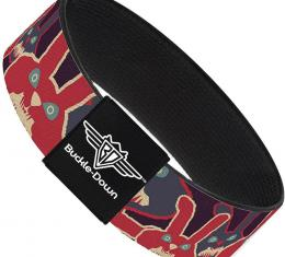 Buckle-Down Elastic Bracelet - Angry Bunnies Purple/Red/Blue