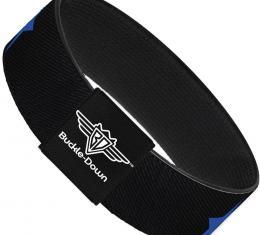 Buckle-Down Elastic Bracelet - Star Black/Blue