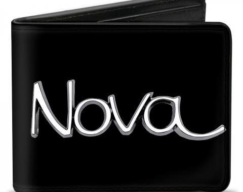 Bi-Fold Wallet - 1968-72 NOVA Script Emblem Black/Silver
